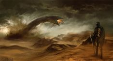 sandworm, landscape, fremen
