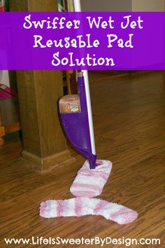 Are you sick of buying reusable pads for your Swiffer? Try this idea out to save you money!