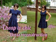 Great site for tutorials on reconstructing clothing. Love this chics ideas about clothing! Must return to her site Diy Clothing, Sewing Clothes, Upcycling Clothing, Sewing Tutorials, Sewing Crafts, Sewing Projects, Do It Yourself Fashion, Recycled Fashion, Altering Clothes
