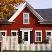 Exterior Paint Colors For The House- Exterior Red Paint Colors for Classic Home Style - Best Exterior Paint, Exterior Paint Colors For House, Paint Colors For Home, Exterior Design, Paint Colours, Exterior Signage, Farmhouse Exterior Colors, Red Farmhouse, Farmhouse Paint Colors