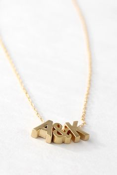 Tiny Initial Necklace Gold Initial Necklace