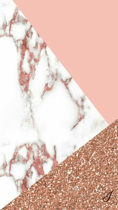 Pink and rose gold marble