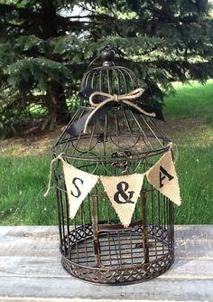 Wedding Birdcage Card Holder Wedding Card Box  by LoRustique, $48.50