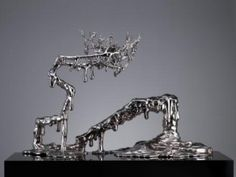 中国风景NO.4 China Scene,  Stainless Steel. Contemporary Chinese modern art sculpture by notable artist, Chen Wenling