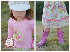 Girls boutique skirt with matching applique by TheMulberriBush.