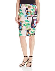 Clover Canyon Sportswear Women's Plastic Flowers Skirt, Multi, Small -- You can get more details by clicking on the image.