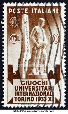 Postage stamp Italy 1933 Statue of Athlete