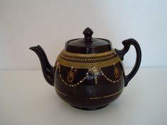 Antique H. J.  Wood Burslem Teapot by VirtualClutter on Etsy