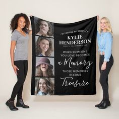This custom photo collage blanket is the perfect gift for you, your family, or friends to honor those special people who are no longer with us. #sympathygift Sympathy Quotes, Sympathy Gifts, Personalized Memorial Gifts, Photo Blanket, Photo Memories, Edge Stitch, Wedding Save The Dates, In Loving Memory, Special People
