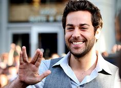 Live long and prosper, you adorably nerdy man.   Community Post: 23 Pictures Of Zachary Levi, The Most Adorable Nerd On The Planet