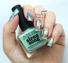 Her blog is sick! You should go and see her nail art! Pretty!!