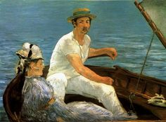 Boating, 1874 Édouard Manet (French, Oil on canvas 38 x 51 in. x cm) Signed (lower right): Manet H. Havemeyer Collection, Bequest of Mrs. Havemeyer, 1929 On view: Gallery 810 Last Updated November 2012 Matisse, Edgar Degas, Post Impressionism, Impressionist Art, Claude Monet, Metropolitan Museum, Edouard Manet Paintings, Peter Paul Rubens, Renoir