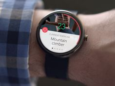 Tabata timer Android Wear concept