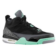 4037d024c65f Jordan Son of Mars Low - Men s - Basketball - Shoes - Black Anthracite Cement  Grey Green Glow. Tomorrah White