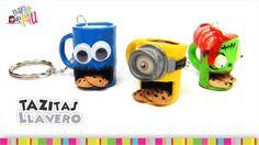 Cool coffee mugs keychains(Polymer Clay) / Padrísimos llaveros en forma ...