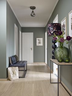 Hallway Wall Colors, Room Wall Colors, Bedroom Colors, Apartment Interior Design, Living Room Interior, Style At Home, Pastel Living Room, Pastel Home Decor, Pastel House