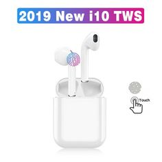 Automatically turned on Bluetoot 5.0 to allow the earbuds to connect two devices at the same time. $14.99 Cool Electronic Gadgets, Electronics Gadgets, Gadget Shop, Healthy Beauty, Electric Power, Surround Sound, 3d Printer, Connect, Bluetooth