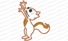 Reaching Squirrel Applique Embroidery Design is an original piece created just for Kris Rhoades. He's cute, reaching up for some nuts or any other treat.