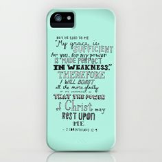 2 Corinthians 12:9 iPhone Case by Meredith Tan - $35.00