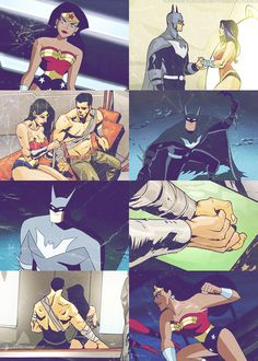 Most popular tags for this image include: batman, bruce wayne, wonder woman and diana prince