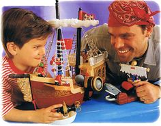 great adventures 90s toy castle and pirate ship. HAD<3