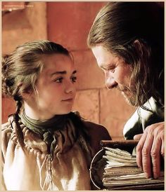 Arya Stark and Ned Stark - Game of Thrones