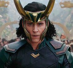 "synysterkitten86: "" maryxglz: "" Tom Hiddleston as Loki in Thor: Ragnarok!!!!! OMG!!!!    Bonus: "" Maaaaaan I just can't  """