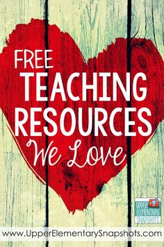 FREE Teaching Resources that you and your students will LOVE.  Brought to you by www.UpperElementarySnapshots.com
