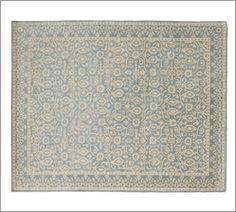 Master Bed (only 8x10 largest) Tile Rug - Porcelain Blue   Pottery Barn