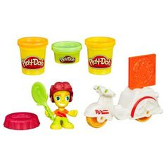 Play-Doh Town Pizza Delivery Includes figure with hat, pizza mold, cutter, tabletop, and 3 cans of Play-Doh Brand Modeling Compound.