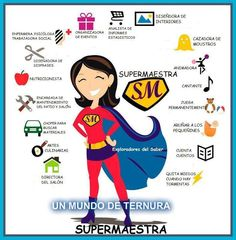 Supermaestra - the things a primary teacher does Mom Day, Teachers' Day, Bible Verses Quotes, Mom Quotes, Free To Use Images, Baby Center, Super Mom, Family Love, Educational Technology