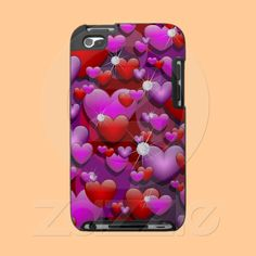 Hearts Love and Diamonds Ipod Touch 4g Cases