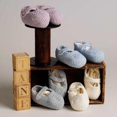 Infantil Orgánica de lujo y ropa de bebé: Accesorios: Zapatillas de punto redondeados
