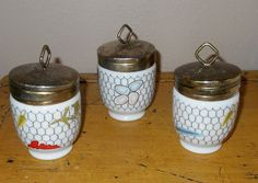 Vintage - Taste Setter Collection (3) - Double Egg Coddler - Chicken Coop - Farmhouse by Luv2Junk on Etsy