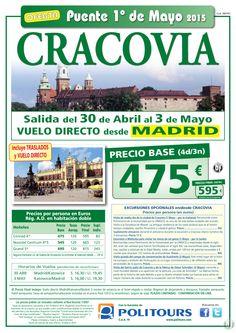 """CRACOVIA """"Puente de Mayo"""" salida 30 de Abril desde Madrid (4d/3n) precio final desde 595€ ultimo minuto - http://zocotours.com/cracovia-puente-de-mayo-salida-30-de-abril-desde-madrid-4d3n-precio-final-desde-595e-ultimo-minuto-5/"""