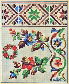 Gallery.ru / Фото #15 - 2 - OlgaHS Embroidery Patterns Free, Vintage Embroidery, Embroidery Applique, Cross Stitch Embroidery, Embroidery Designs, Cross Stitch Boarders, Counted Cross Stitch Patterns, Cross Stitch Needles, Beaded Cross Stitch
