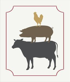 Farm Signs Stencil COW PIG CHICK stack with by SuperiorStencils: