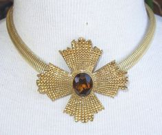 Lovely Accessocraft Gold & Topaz Maltese by BUTTERFLYWINGVINTAGE, $75.00