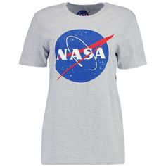 Boohoo Emma Nasa Licence T-Shirt ($12) ❤ liked on Polyvore featuring tops, t-shirts, off-shoulder crop tops, cropped cami, bralette crop top, off the shoulder tops and off the shoulder crop top