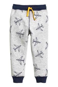 Спортивные брюки - Серый/Самолет - | H&M RU
