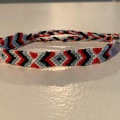 Normal friendship bracelet pattern added by NeverNever. Friendship Bracelet Patterns, Friendship Bracelets, Diamond Cross, Camping Crafts, Chevron, Jewelry, Jewlery, Jewerly, Schmuck