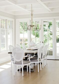 West Van Residence   The Cross French Country Dining, Country Dining Rooms, Traditional Dining Rooms, Beautiful Dining Rooms, White Interiors, Interior Design Services, Color Inspiration, Brick, Home And Family