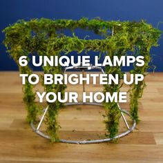 6 Unique Lamps To Brighten Up Your Home #wreath #lamp #nifty #craft #home
