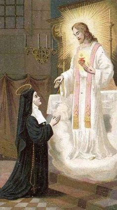 Apparition of the Sacred Heart of Jesus to St. Margaret Mary