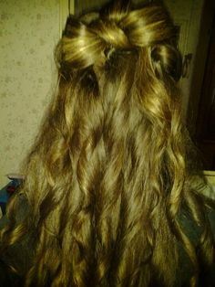 My daughters Homecoming hair