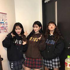 something special ♡ Ulzzang Girl Fashion, Ulzzang Korean Girl, Ulzzang Couple, Korean Best Friends, 3 Best Friends, Moda Ulzzang, Bff, Besties, Girl Friendship