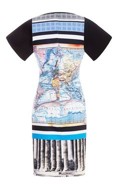 Ancient World Map Dress by Clover Canyon