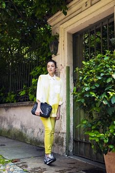 Yellow on Yellow  (by Eleonora Carisi) http://lookbook.nu/look/3787893-Yellow-on-Yellow