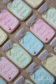 bridal shower mason jars | hello baked