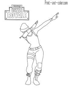 Fortnite battle royale coloring page Cuddle Team Leader